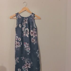 H&M Navy Floral Midi Dress